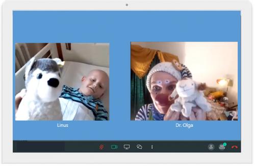 Dr. Olga im Video-Chat 01