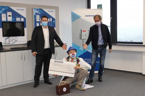 tetronik Kommunikationstechnik unterstützt drei Vereine aus der Region 01
